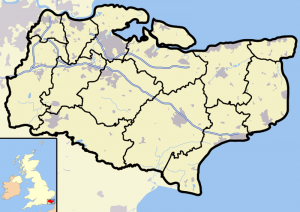 Kent Outline Map