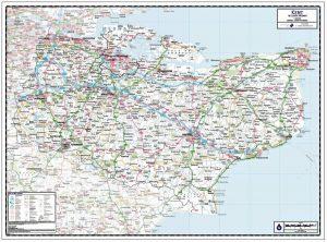 Kent Wall Map
